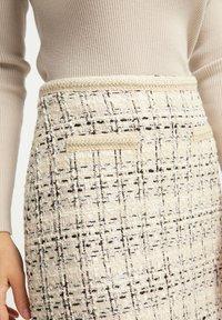 faina - TWEED - A-line skirt - champagner - 3