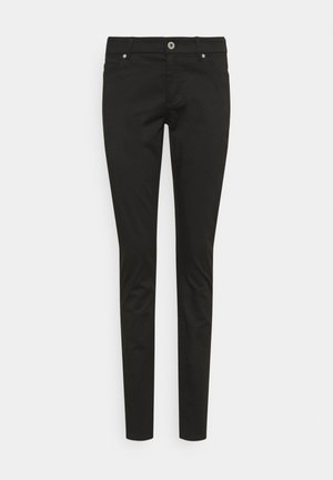 5 POCKET MID WAIST SLIM LEG - Trousers - black
