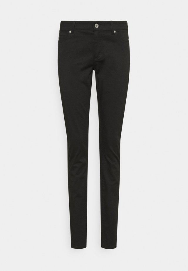 5 POCKET MID WAIST SLIM LEG - Pantaloni - black