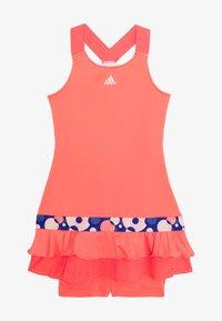 adidas Performance - FRILL DRESS - Sportovní šaty - red - 3