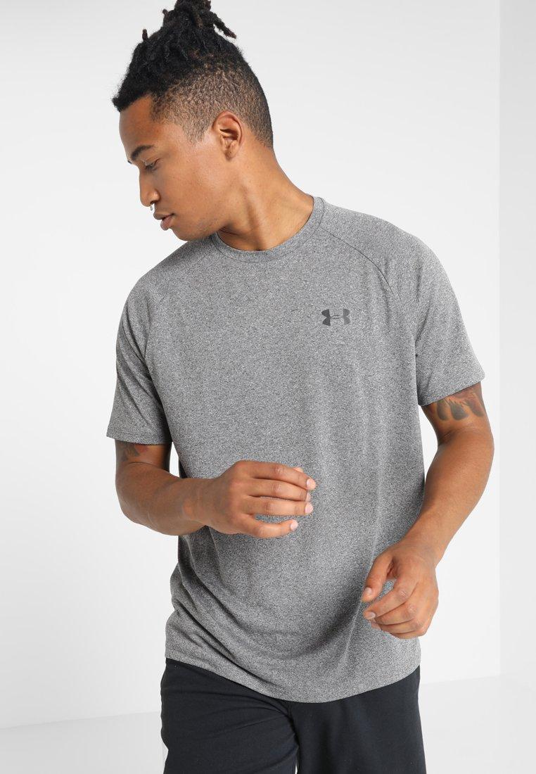 Under Armour - HEATGEAR TECH  - Camiseta estampada - charcoal light heather/black