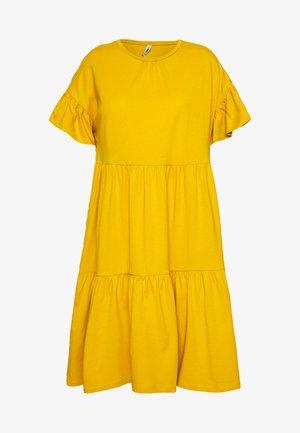 ONLTENNA LIFE CUTLINE DRESS - Žerzejové šaty - golden spice