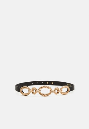 PCWENDIA WAIST BELT - Ceinture taille haute - black/gold-coloured