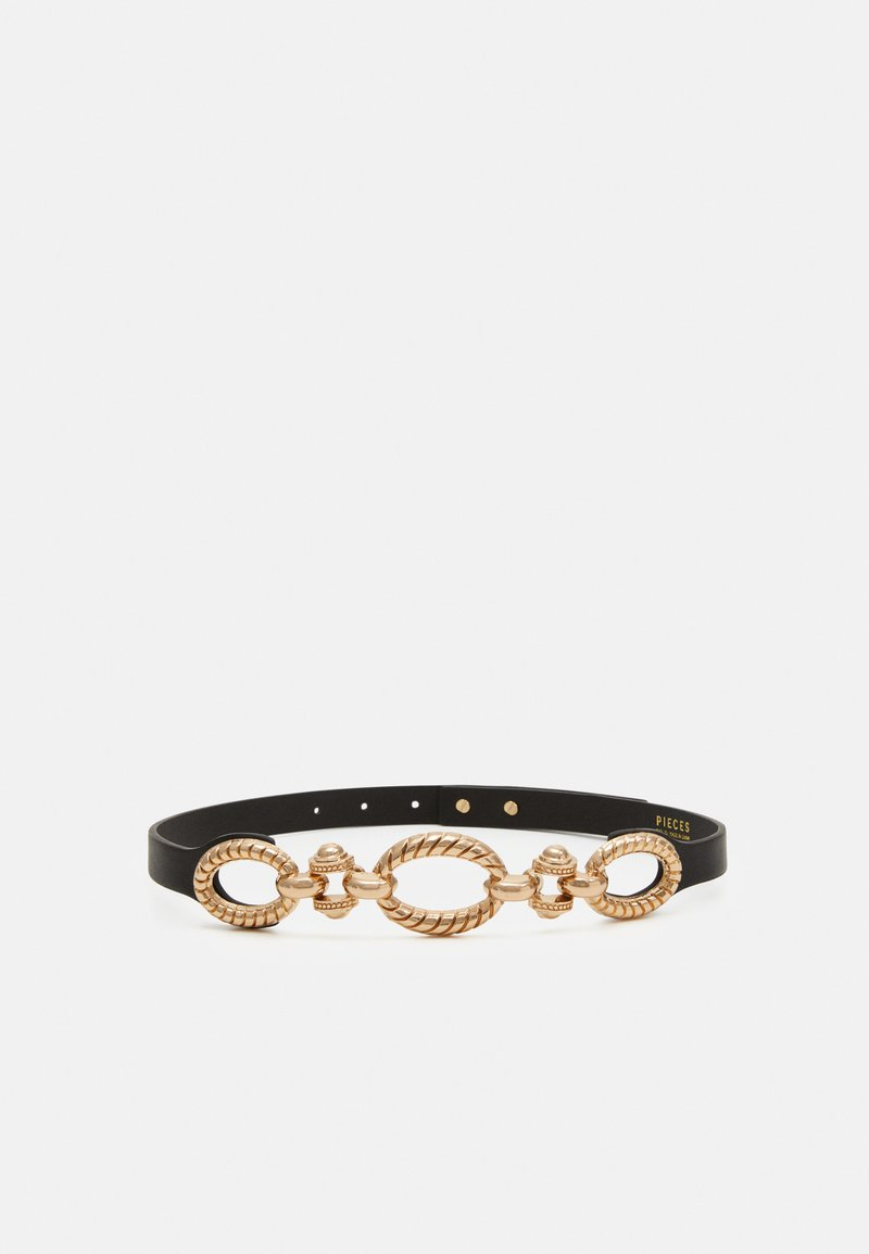 Pieces - PCWENDIA WAIST BELT - Waist belt - black/gold-coloured
