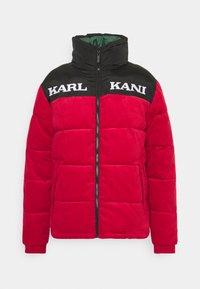 Karl Kani - UNISEX RETRO REVERSIBLE PUFFER JACKET - Winter jacket - dark red - 0