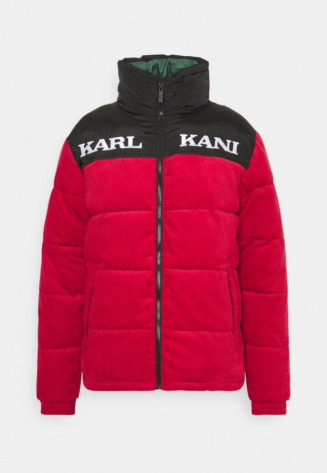 UNISEX RETRO REVERSIBLE PUFFER JACKET - Winter jacket - dark red