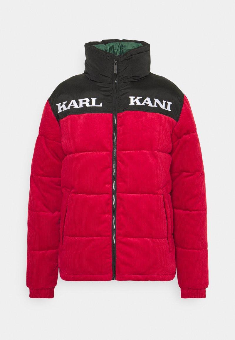 Karl Kani - UNISEX RETRO REVERSIBLE PUFFER JACKET - Winter jacket - dark red
