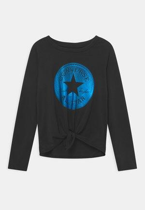CLASSIC LENGTH TIE FRONT - T-shirt à manches longues - black