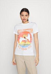 Cotton On - CLASSIC LED ZEPPELIN - Camiseta estampada - gardenia - 0