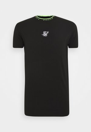 HEM TAPE COLLAR GYM TEE - Basic T-shirt - black