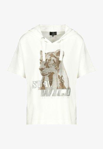 MIT STRASS IM ANIMAL-DESIGN - Print T-shirt - white