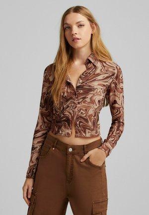 HEMD MIT  - Button-down blouse - brown