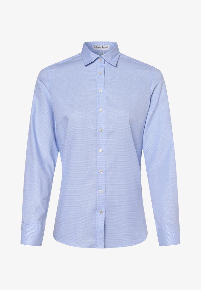 Button-down blouse - hellblau weiß