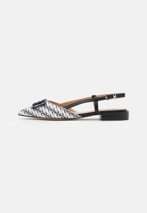 VIOLA SLING BACK  - Slingback ballet pumps - black/white