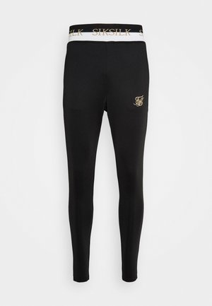 DELUXE TRACK PANTS - Tracksuit bottoms - black