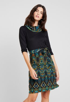 Day dress - dark blue/mustard