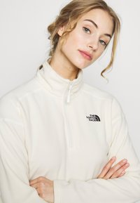 The North Face - GLACIER CROPPED ZIP - Fleecepullover - vintage white