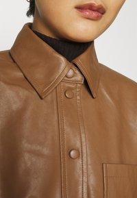 Samsøe Samsøe - VESTINE JACKET  - Faux leather jacket - camel - 5