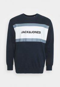 Jack & Jones - JJSHAKE CREW NECK - Sweatshirt - navy blazer - 0