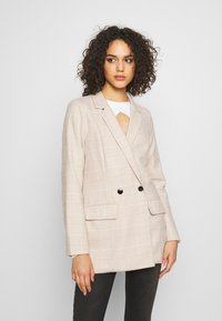 Missguided - PRINCE OF WALES CHECK  - Blazer - stone - 0