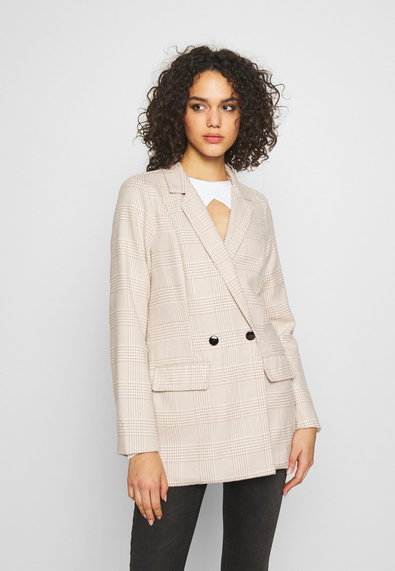 Missguided - PRINCE OF WALES CHECK  - Blazer - stone
