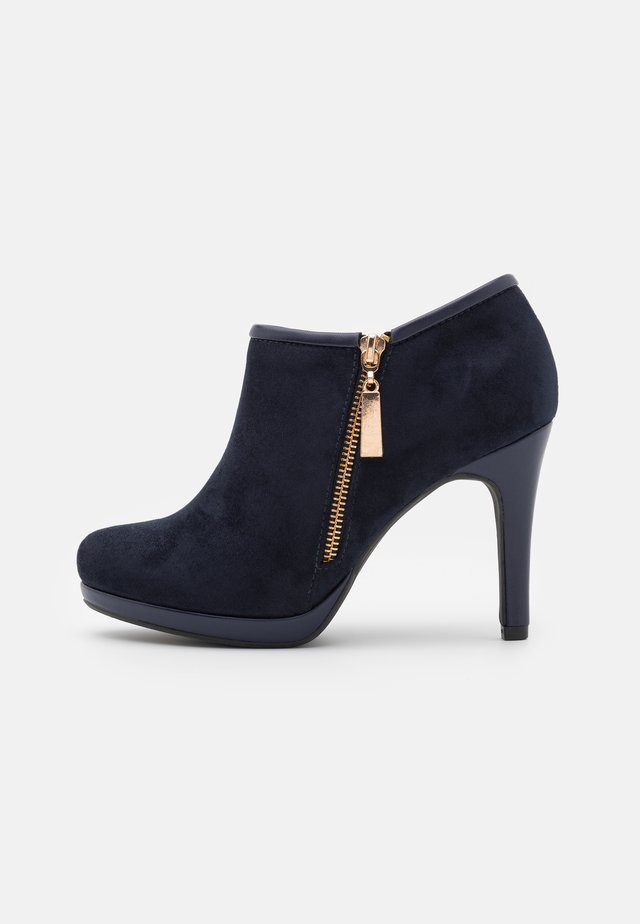 CLAUDIA - Bottines à talons hauts - navy