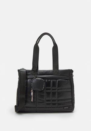 BRIEFCASE FLUFFY SET - Taška na laptop - black