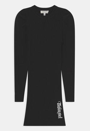 ABITO - Abito in maglia - nero