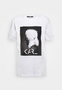 KARL LAGERFELD - LEGEND - Print T-shirt - white - 4