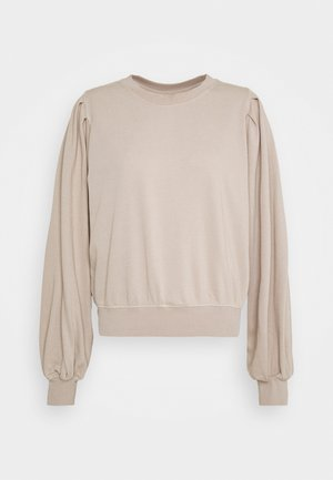 PENNY PLEAT SHOULDER CREW - Felpa - light brown
