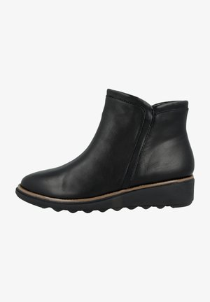 SHARON HEIGHTS - Ankle boots - black leather warm lined