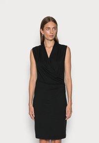 Banana Republic - WRAP DRESS - Jersey dress - black - 0