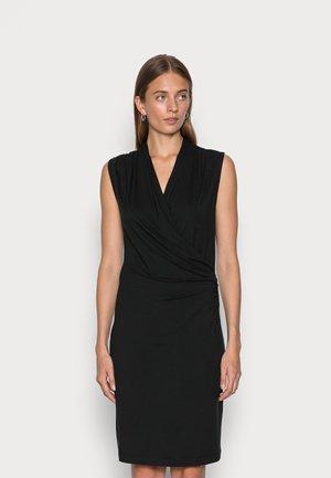 WRAP DRESS - Jersey dress - black