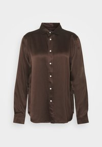 LONG SLEEVE SHIRT - Button-down blouse - mohican brown