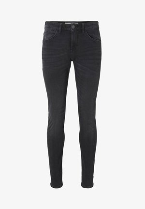 TROY  - Slim fit jeans - overdyed  black denim