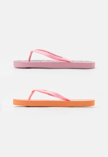 2 PACK - Pool shoes - pink garden/tropical orange