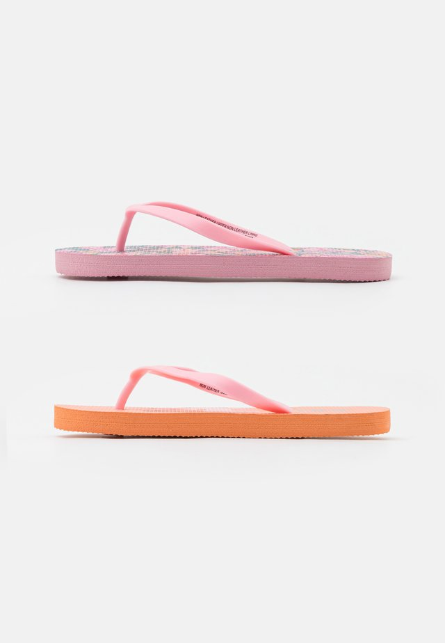 2 PACK - Tongs - pink garden/tropical orange
