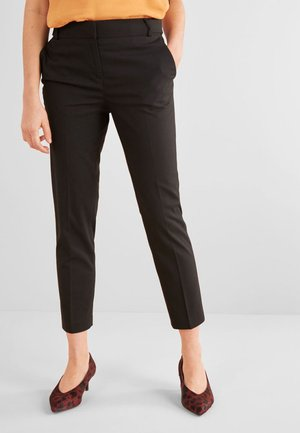 TAILORED SLIM -PETITE - Trousers - black