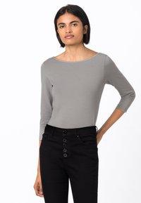 HALLHUBER - Long sleeved top - gris argenté - 0