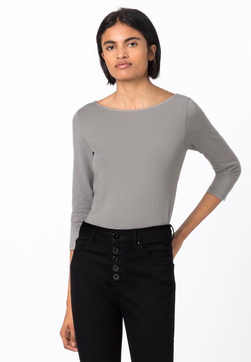HALLHUBER - Long sleeved top - gris argenté