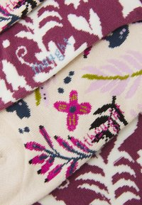 Thought - NELLY FLORAL SOCKS OTOMI FORAL SOCKS 2 PACK - Ponožky - cream/ mauve pink - 2