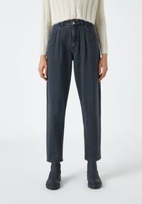 PULL&BEAR - SLOUCHY - Relaxed fit jeans - black - 0