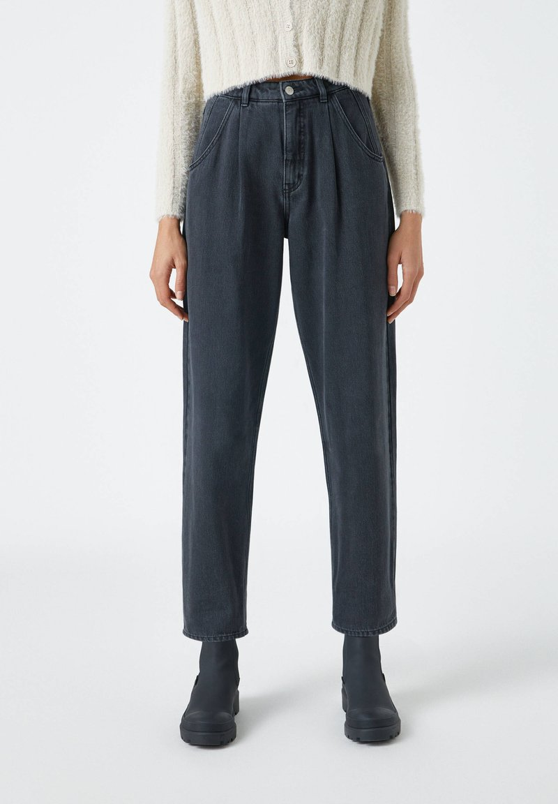 PULL&BEAR - SLOUCHY - Relaxed fit jeans - black