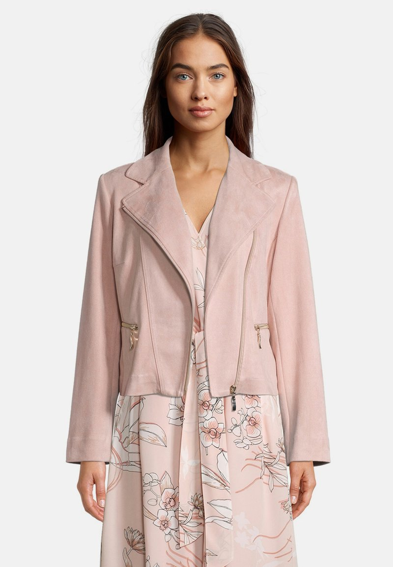 Betty Barclay - Faux leather jacket - altrosa