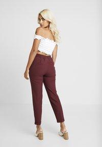 ONLY Petite - ONLFOCUS PANT - Trousers - tawny port - 3
