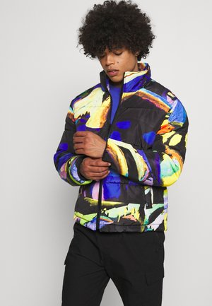 ART PRINT PUFFER JACKET - Giacca invernale - blue