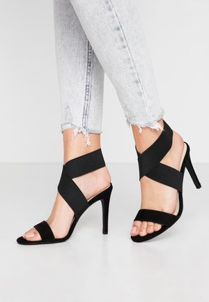 SHAPED ANKLE - Sandalias de tacón - black