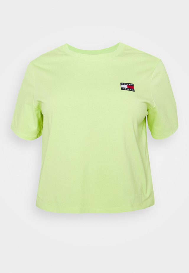 BADGE TEE - T-shirt con stampa - faded lime