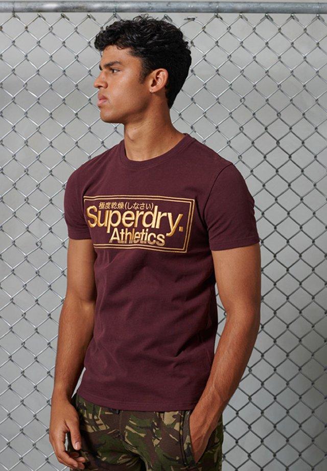 T-shirt imprimé - rich deep burgundy
