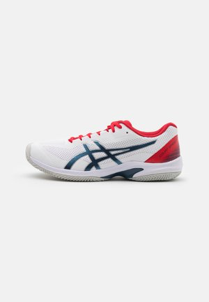 COURT SPEED FF CLAY - Zapatillas de tenis para tierra batida - white/mako blue